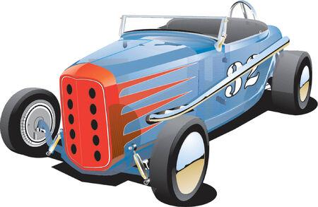 car tracks: Old dirt track race car