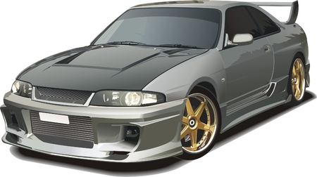 silver sports car: Japanese sports car