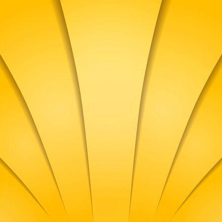 Abstracte gouden gele achtergrond met schaduwen. Vector illustratie voor ontwerp