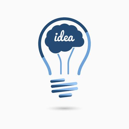 전구 아이디어 아이콘입니다. 전구 기호, 전구 기호입니다. 비즈니스 아이디어 개념입니다. 일러스트