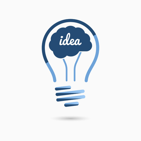 Gloeilamp idee icoon. Gloeilamp teken, gloeilamp symbool. Bedrijfsidee concept. Stock Illustratie