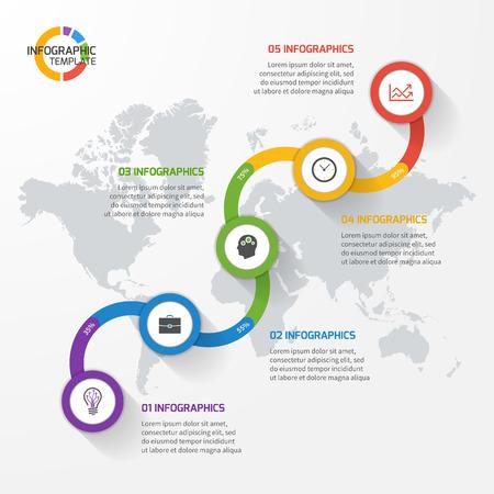 Abstrakte Liniendiagramm Infografik Vorlage Für Grafiken Und ...
