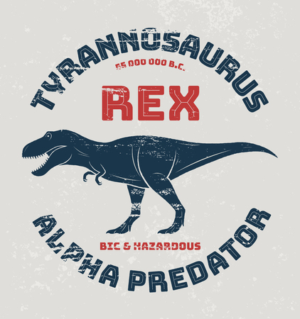 tyrannosaurus rex: Tyrannosaurus rex t-shirt design, print, typography. Vector illustration.