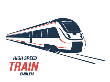 High speed commuter train emblem, icon, label, silhouette. Vector illustration. Stock fotó - 66487562