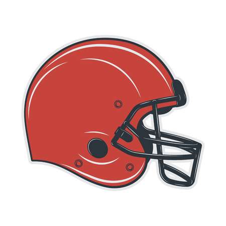 Football helmet on white background. Vector illustration. Иллюстрация