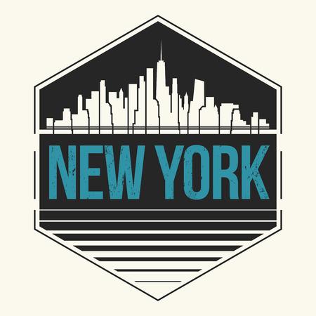 gráfico de la ciudad de Nueva York, diseño de la camiseta, camiseta de impresión, tipografía, emblema. Ilustración del vector.