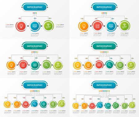 Set of presentation business infographic templates