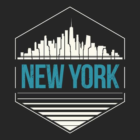 New York City t-shirt design. Vector illustration.