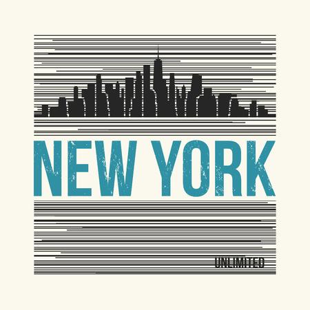 뉴욕시 t- 셔츠 디자인. 벡터 일러스트 레이 션.