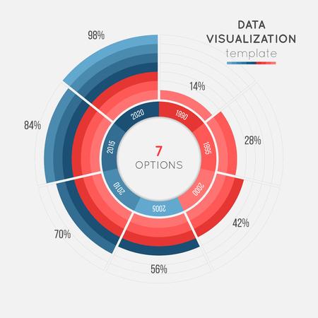 Modèle infographique de vecteur cercle graphique pour la visualisation de données Banque d'images - 78532777