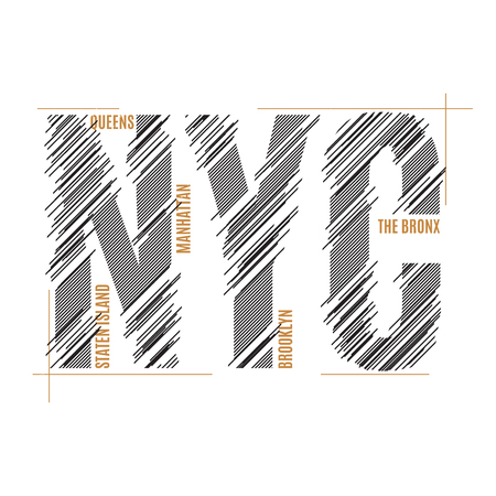 New York tee print. T-shirt design graphics stamp label typograp