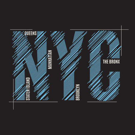 jersey: New York tee print. T-shirt design graphics stamp label typograp