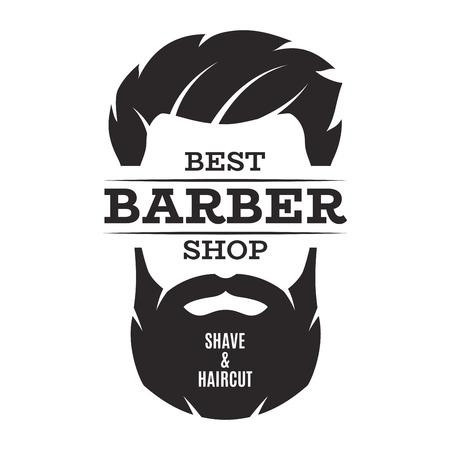 Barber shop isolated vintage label badge emblem. Vettoriali