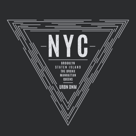 New York tee print with the boroughs names. Illusztráció