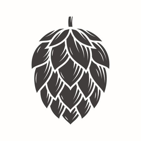 Hop emblem icon label logo. Illustration