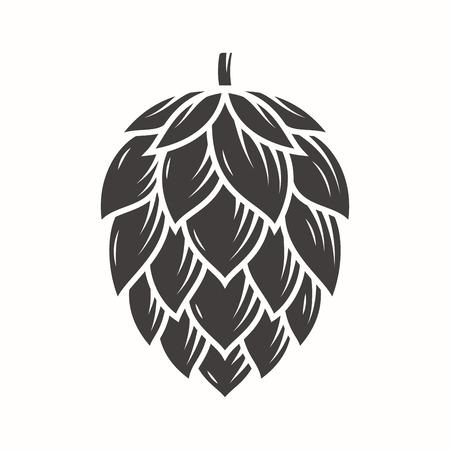 Logo dell'emblema dell'icona dell'emblema di Hop. Archivio Fotografico - 80838472