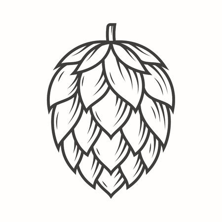 Hop emblem icon label logo. Vectores