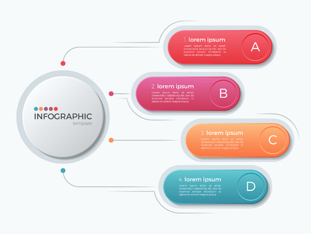 Presentation business infographic template with 4 options. Imagens - 81623524