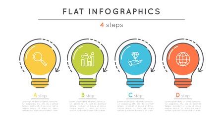 Modèle infographique plan chronologique à 4 étapes. Banque d'images - 82077269
