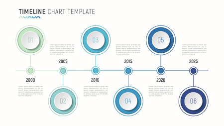 timeline chart info graphic template for data visualization royalty