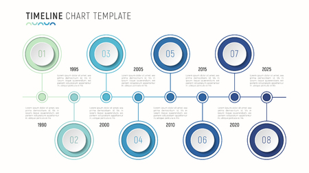 Timeline Chart Infographic Template For Data Visualization Royalty - Timeline graphic template