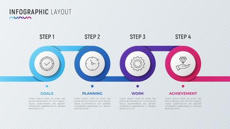Timeline chart infographic design for data visualization. Stock Vector - 84727637