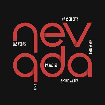ネバダ州。T シャツ、アパレルのベクター デザイン。  イラスト・ベクター素材