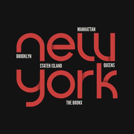 ニューヨーク市。T シャツ、アパレルのベクター デザイン。