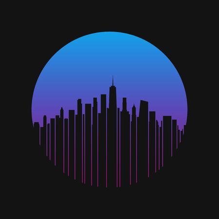 ニューヨーク市。T シャツ、アパレルのベクトルのデザイン
