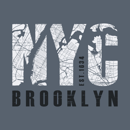 New York Brooklyn t-shirt and apparel design. Stock fotó - 85934521