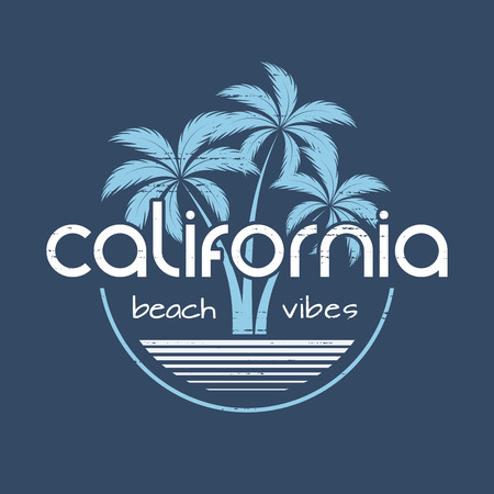 California beach vibes t-shirt and apparel design. Reklamní fotografie - 85934524