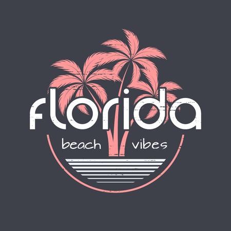 플로리다 해변은 티셔츠와 의상 디자인을 즐깁니다.
