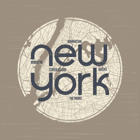 New York t-shirt and apparel vector design, print, typography. Banco de Imagens - 86554364