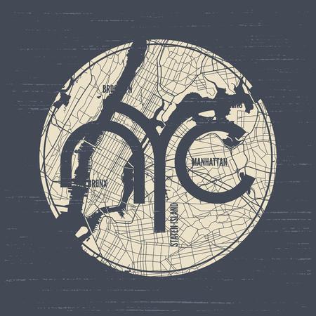ニューヨーク t シャツとアパレルのベクトルのデザイン、印刷、タイポグラフィ  イラスト・ベクター素材