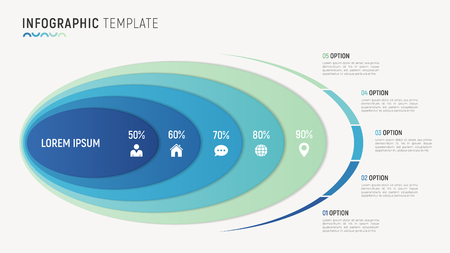 데이터 시각화를위한 벡터 추상 차트 infographic 템플릿 일러스트