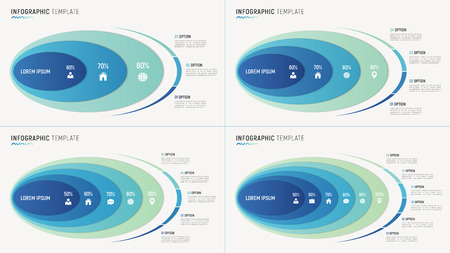 Vector abstract chart infographic templates for data visualizati