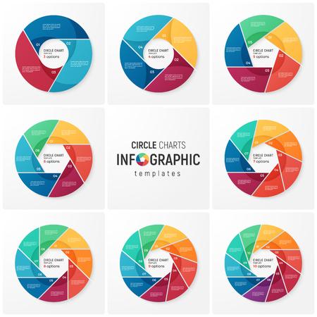 데이터 시각화를위한 벡터 원형 차트 인포 그래픽 템플릿 스톡 콘텐츠 - 87124910