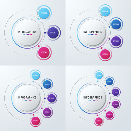Vector circle chart infographic templates for presentations, adv Illustration