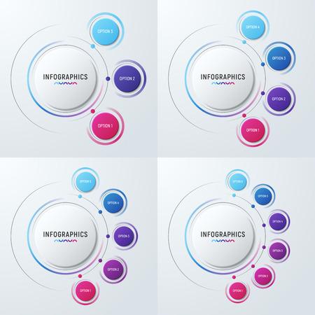 Vector Kreisdiagramm Infografik Vorlagen für Präsentationen, Adv Standard-Bild - 87566444