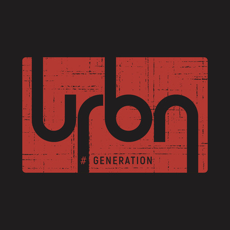 Urban generation . T-shirt and apparel vector design background, print, type Illusztráció