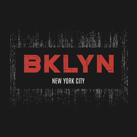 Brooklyn t-shirt and apparel design with grunge effect and textu Ilustracja