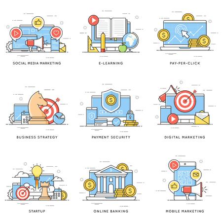 Social media, digital and mobile marketing.  e-learning