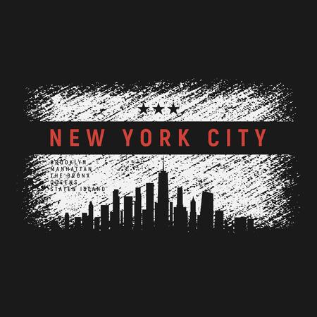New- York Cityt-shirt und Kleiderschmutz-Artdesign mit Stadt Standard-Bild - 88678787