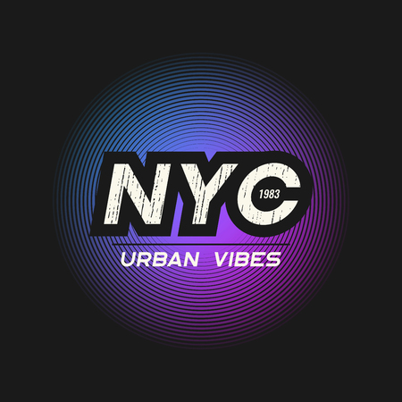NYC urban vibes t-shirt and apparel design with grunge textured