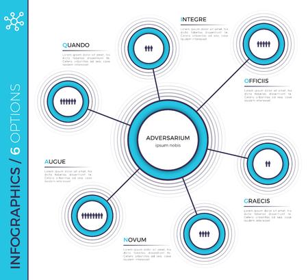 6 가지 옵션 최소의 창조적 인 infographic 차트, 계획, des 스톡 콘텐츠 - 89540573