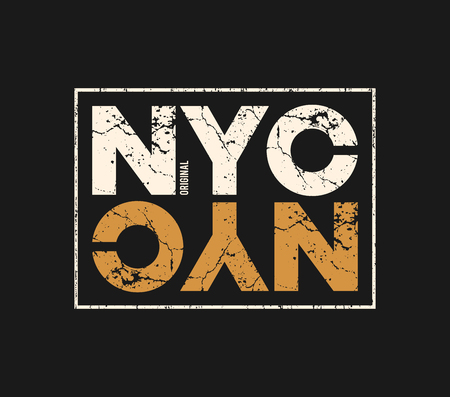 NYC original t-shirt and apparel design with grunge effect. Illustration