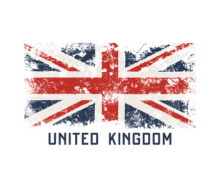 United Kingdoml t-shirt and apparel design with grunge effect.