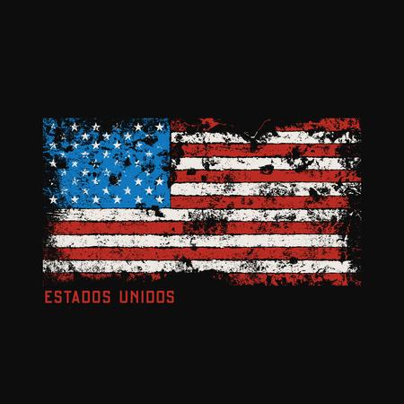 Estados unidos t-shirt and apparel design with grunge effect.