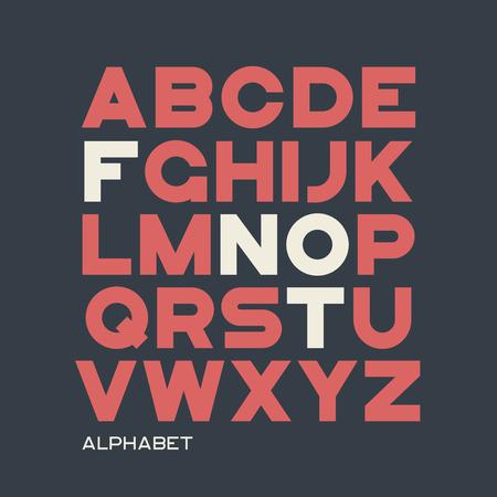 Heavy sans serif typeface design. Vector alphabet, letters, font Illustration
