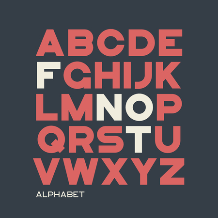 Heavy sans serif typeface design. Vector alphabet, letters, font Illustration